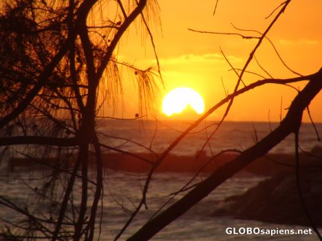Sunset From Dover Beach on Barbados South Coast