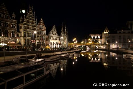 Ghent (BE) - old town at night