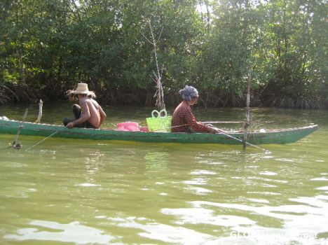 Fishing on the river close to Sihanoukville
