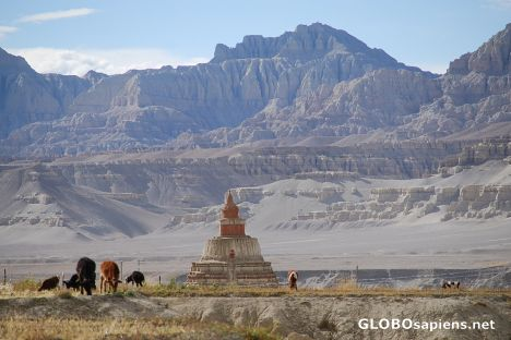 View of a Chorten and Canyon