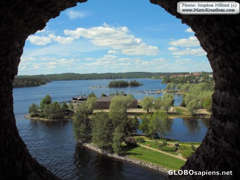 View from Olavinlinna castle