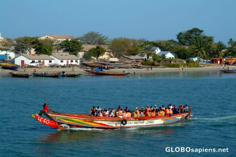 Banjul - boat linking Barra with the capital city