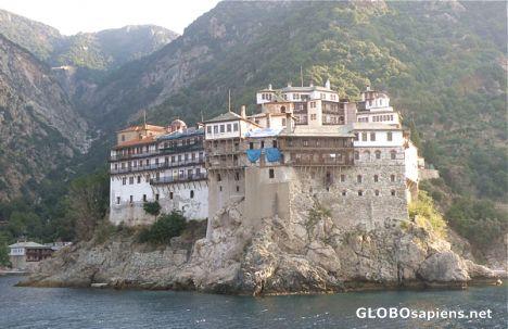 Dafni Greece - Grigoriuu Monastery - closeup - GLOBOsapiens