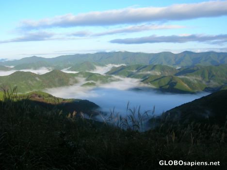 View of the Kumano Kodo early in the morning