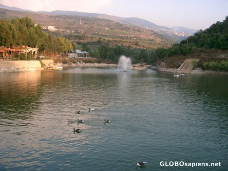 Nachaa lake in the north of Lebanon