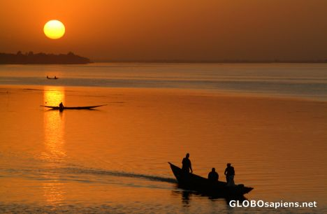 Segou (ML) - Sunset on Boxing Day, at the Niger