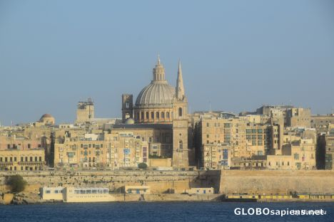 The walls of Valletta