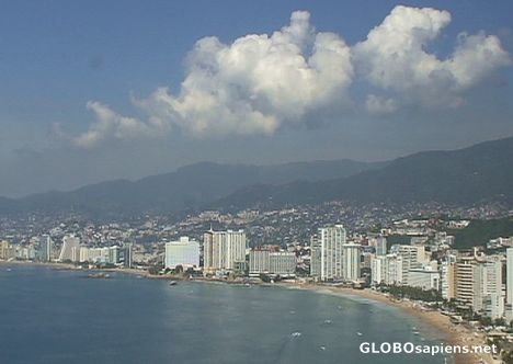 Clouds over Acapulco...