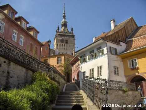Entrance to the old city in Sighisoara