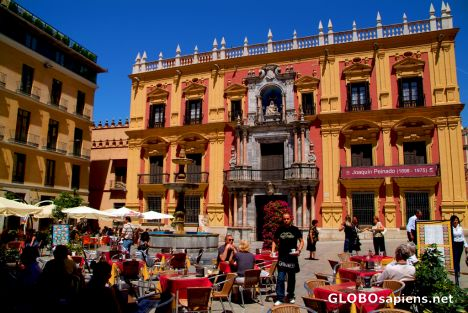 Malaga, Andalusia - little old town square