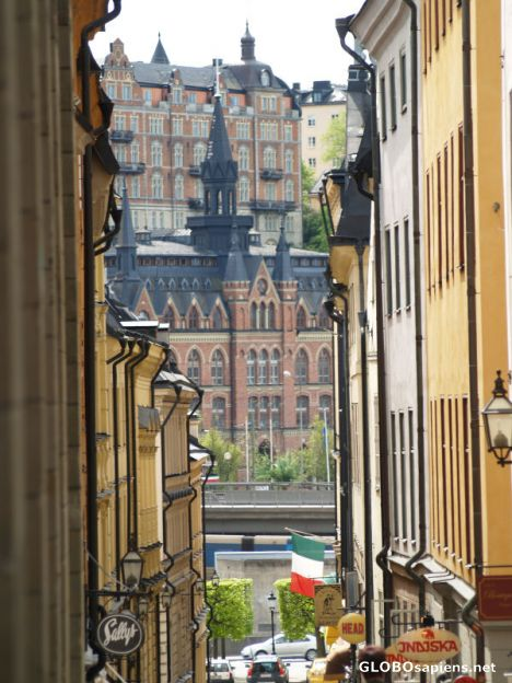 Looking out from Gamla Stan