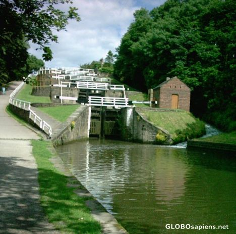 Five rise locks - Leeds and Liverpool Canal