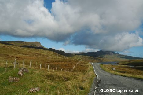 Road to Portree. Scotland.