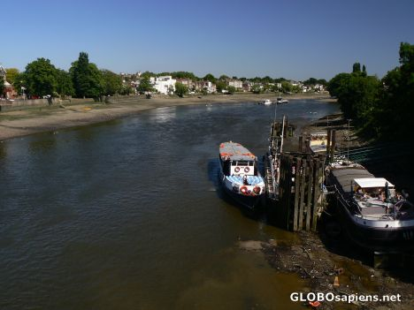 River Thames and beaches from Kew Bridge