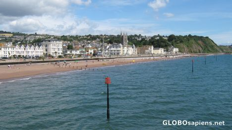 Teignmouth, the beach, viewed from the pier.