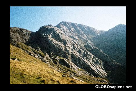 Idwal slabs, snowdonia national park area