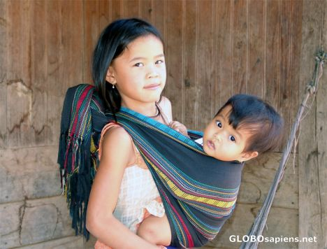 Ethnic children in the Sapa Highlands Vietnam