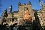 Aachen Townhall with Christmas Decoration