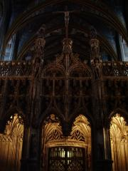 Inside the magnificent cathedral in Albi