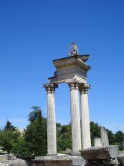 Remains of a temple in Glanum