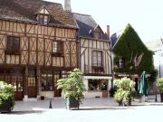 Amboise town - with some of the interesting wooden beamed houses.