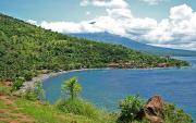 Amed Village, Amed Bay and Mount Agung