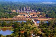 Angkor aerial, taken from a baloon