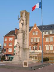 A war monument to French soldiers