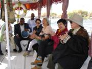 Being entertained onboard Nubian Dreams, a motorboat