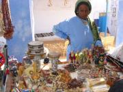 Nubian Woman selling her craftwork