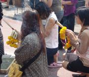 Erawan Shrine attracts thousands daily to pray in the middle of bustling Bangkok