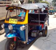 Bangkok's tuk-tuks - negotiate, haggle and agree the fare before you enter