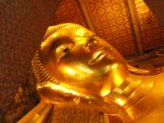 the golden reclining budda