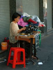 Mending service on the street