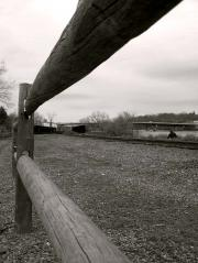 Railway tracks along the Penobscot River on the Waterfront