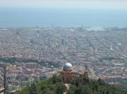 Barcelona from the top of Mount Tibidabo