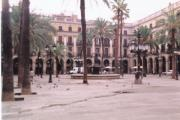 Plaça Real, with Gaudi lamp posts