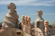 Terrace of Casa Mila, the so called La Pedrera