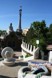 Parc Guell, one of the masterpieces of Gaudi
