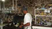 Nando at work in the kitchen