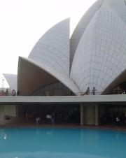 In New Delhi is the Lotus Temple