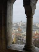 the parliament house from Hilton at Fishermens Bastion
