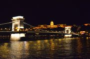 The Chain Bridge and The Buda Castle at night.
