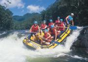 Tully River, white water rafting.