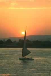 felucca along Nile by sunset some thing amazing