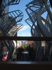A sculpture on Stephen Avenue Walk