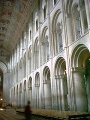 Norman arches in nave, Ely