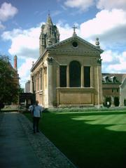 Pembroke College Chapel, Wren's first