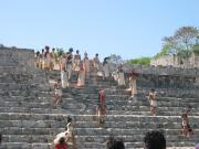 Opening Ceremony for local youth sports, at ancient Mayan Ruins of Edzna