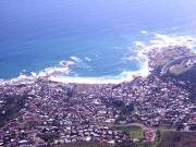 Camps Bay as seen from Table Mountain